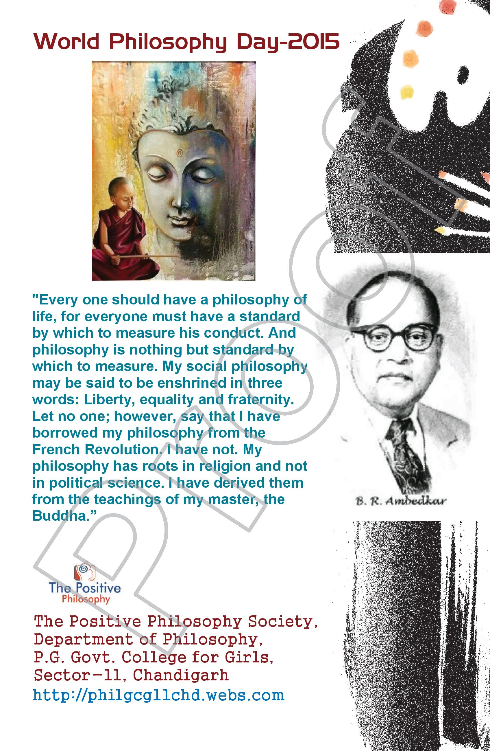 social philosophy the philosophy of liberation  world philosophy day 2015 poster to be released